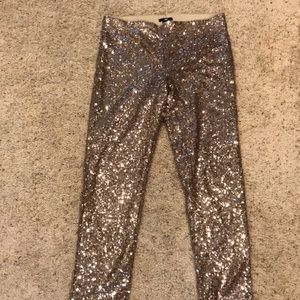 H&M Gold Sequin Jegging/ Legging Pants from London